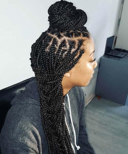 Unique Sculptural Hairstyle