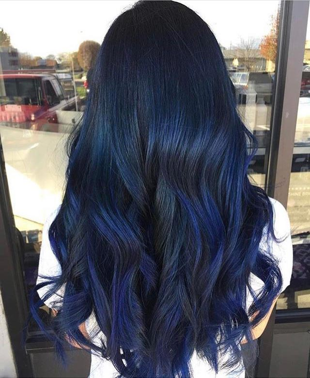 Blue Black Hair Dye