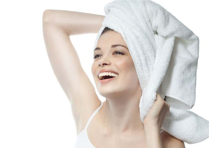Drying Your Hair After Taking a Bath