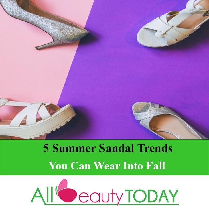 5 Summer Sandal Trends